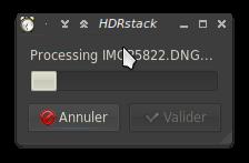 La petite interface d'HDRstack
